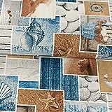 Dekostoff Maritim blau beige Canvas - Preis gilt für 0,5