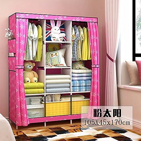 WJP modernos armarios simplificada de tela de refuerzo de bricolaje armario ropero W-463