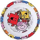 Fun House 005182 Monsieur Madame Assiette Micro-ondable pour Enfant Polypropylène Rose 22 x 22 x 1 cm