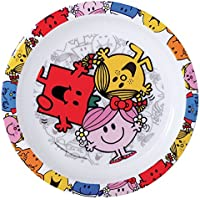 FUN HOUSE 005182 Monsieur Madame Assiette Micro-ondable Enfant Polypropylène Rose 22 x 22 x 1 cm
