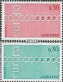 sellos para coleccionistas: Andorra-francés Correos 232-233 (completa.edición.) nuevo con goma original 1971 Europa - Prophila - amazon.es