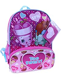 "Shopkins Ice Cream Dream ""Too Sweet"" 16"" Full-Size Backpack By Moose Enterprise"