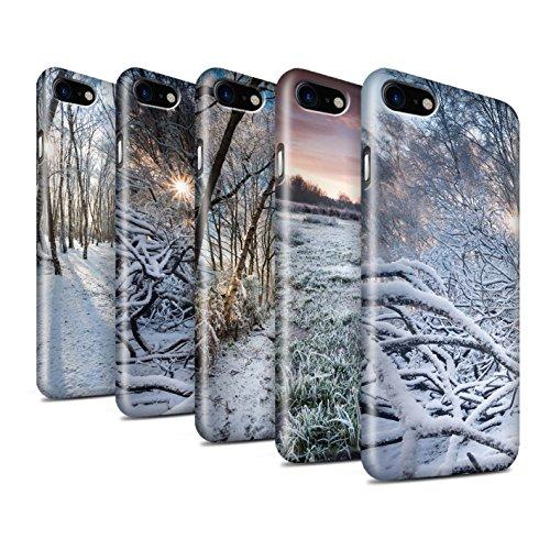STUFF4 Glanz Snap-On Hülle / Case für Apple iPhone 8 / Sonnenstrahlen Muster / Winter Saison Kollektion Pack 7pcs