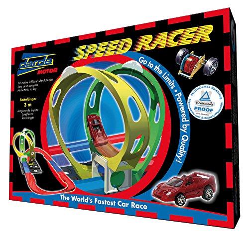 Darda 50110 - Rennbahn Speedracer, inklusive rotem Rennwagen, 300 cm Streckenlänge