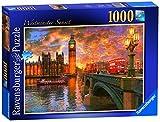 Ravensburger London–Westminster Sonnenuntergang, Spielset Puzzle, 1000Einzelteile