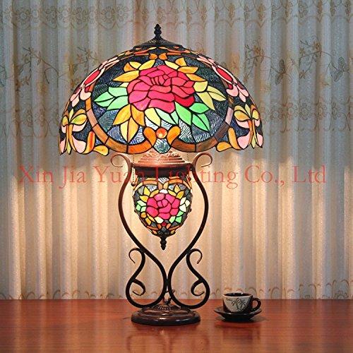 High End Wohnzimmer-möbel (WSS Tiffany retro ewige Liebe Rosen High-End-dekorative Lampen Bild Tischleuchte Wohnzimmer Möbel Schlafzimmer Tischleuchte , 20)