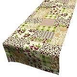 Schöner Leben Tischläufer Patchwork Rosen bunt 40x160cm