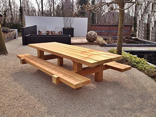 Tavoli Da Giardino Legno Rustici.Casa Padrino Mobili Da Giardino Set Tavolo Rustico 2 Panchine 180