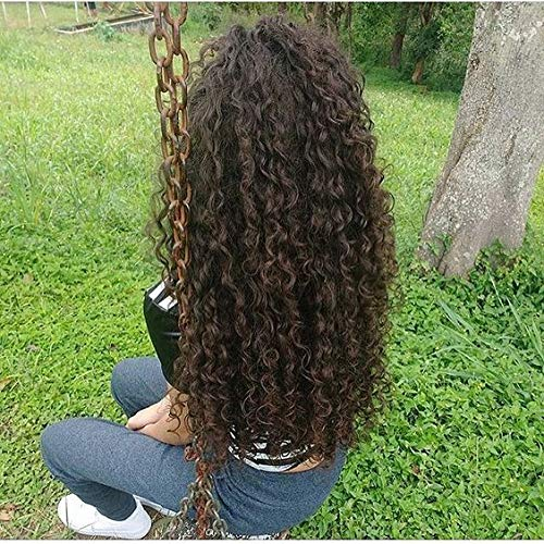 Ugeat Kinky Curly 100% Human Hair Tressen Haarverlängerung 4# Dark Brown Remy Echthaar Tressen Brasilianisches Haar Weaving
