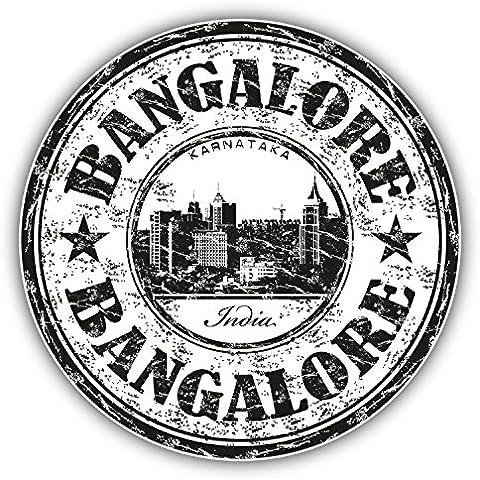 Timbro di gomma grunge viaggio Bangalore India Art Decor adesivo 12x 12cm