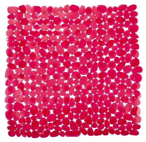 WENKO 20261100 Duscheinlage Paradise Red - Rutschstopp, Saugnäpfe, Kunststoff, Rot