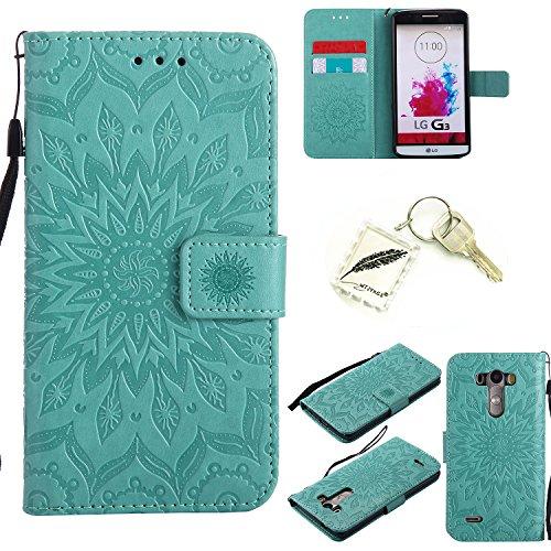 Preisvergleich Produktbild Silikonsoftshell PU Hülle für LG G3 (5,5 Zoll) Tasche Schutz Hülle Case Cover Etui Strass Schutz schutzhülle Bumper Schale Silicone case+Exquisite key chain X1#KD (3)