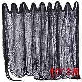 400 * 80 pulgadas decoraciones espeluznantes de Halloween Paño espeluznante negro para la fiesta de Halloween