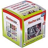 Fischer DUOPOWER 6 x 50 S PH, universele pluggen met pankopschroef, 2-componenten pluggen, kunststof pluggen voor bevestiging