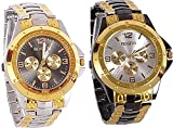 #9: Maan International Combo of 2 Analogue Watches For Men
