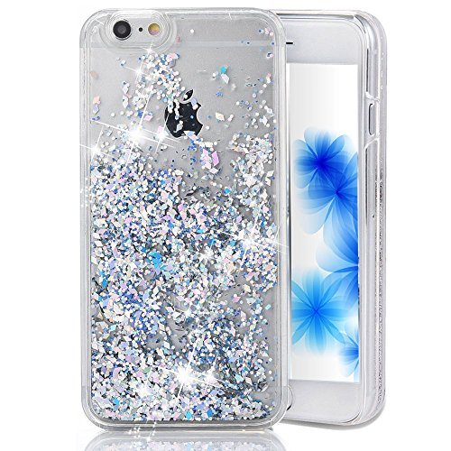 Plus Case 6 Iphone Glitter (EMAXELERS iPhone 6S Plus Case Transparent Clear Glitzer Liquid Diamond Hülle,iPhone 6S Plus Hülle Rosa,iPhone 6S Plus Hard Hülle,iPhone 6S Plus Hülle Bling 3D Kreative Liquid Case Etui für iPhone 6 Plus 5.5 Zoll,iPhone 6S Plus Hülle Glitter Glitzer Crystal Flüssige Fließend Clear Hart Plastik Tasche Kristall Handytasche Rückseite Hülle Schale Etui Für iPhone 6S Plus / 6 Plus 5.5 Zoll,Silver Diamonds)