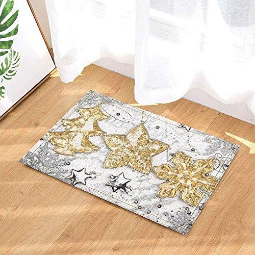(CHENGLVV Weihnachtsdekoration, Vintage Weihnachtsschmuck Aquarell-Musterdruck, Rutschfeste Fußmatte Boden Eingang Durchgang Türmatte Innen, Kindermatte, 40x60cm, Bad-Accessoires)