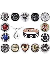 Morella señorías small Click-Button amor Collar Set 3er pulsera 14 pcs pulsadores