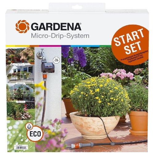 Sistema de Riego por Goteo con Programador Gardena