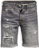 Levis Herren Jeansshorts 501 Hemmed Short 36512-0056 Black Hawaii Dx Sh, Hosengröße:31