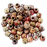 #10: Magideal 100pcs 12mm Mixed Round Wooden Beads for Jewelry Making Loose Spacer Charms
