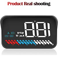 WANGOFUN OBD GPS-Tracker Head Up Display, 3,5 Zoll HUD Display Car HUD Speedometer, Car HUD GPS-Tracking-Gerät