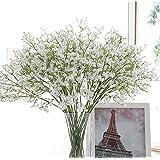 SUNNIOR 5Pcs Starry artificiali fiori Mazzi di casa della festa nuziale decorazione del giardino (Bianco)