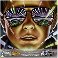 """Back To The Future Trilogy Blu-ray BIG SLEEVE EDITION. Includes 4 Exclusive 12"""" Arts, 3 DVD's, Digital Downloads and MORE!!!"""
