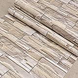 fenjinsheng Carrelage Adhesif Mural 60X300Cm Vintage 0.6X3M Imitation Brique Papiers Peints Chambre PVC Étanche Papier Peint Auto-Adhésif Salon Fond Stickers Muraux