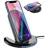 ELEGIANT 15W snabb Qi trådlös laddare, 7,5 W kompatibel med iPhone12 / 11 / SE 2 / XS / XR / X / 8, 10 W för Samsung Galaxy S