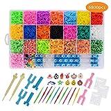 Loom Bands, 6800 Kit Completo, 22 Colores, Kit de Crea de Brazaletes y Loom Juguetes, Juego Creativo para Niños
