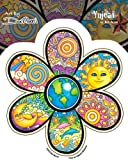 Dan Morris - Earth Flower - etiqueta Sticker/Decal - UV In/Out Weather Protected, Long Lasting