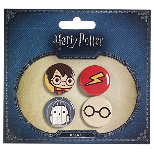 Harry Potter Cutie Button Badge 4-Pack Harry Potter & Hedwig Carat Shop (Kostüme Potter Harry Dobby)