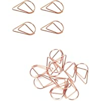 100Pcs Small Paperclips,Rose Golden Stainless Steel Water Drop-Shaped Paperclips Bookmarks for Book,Memo,Paper,Poster…