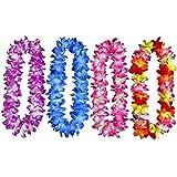 Idealgo pack of 4 Luau Silk Flower Leis ...
