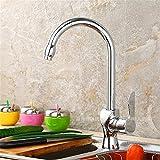 LHbox Tap Feldspritze Auswurfkrümmer Küchenarmatur Küchenarmatur heiße und kalte Gerichte Sowie Waschbecken Waschbecken mit Wasserhahn Becken aus Bronze-Weiten Wasseranschluß, (3A4F)