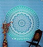 Indian Mandala Tapestry Wall Hanging , Cotton Throw Bohemian Bedding Bedspread ,Picnic Beach Blanket, Dorm Decor Wall Art,86x94 Inch.