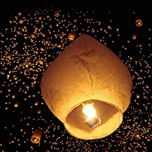 z ZTDM 50 unidades Fire Sky farolillos de papel chino cielo volar que deseen lámpara de