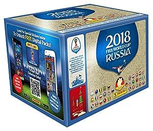 Panini - Mundial Rusia 2018 Caja con 100 Sobres - Versión importada de Alemania Los números de los cromos de la versión importada Pueden no coincidir con el álbum de la versión española