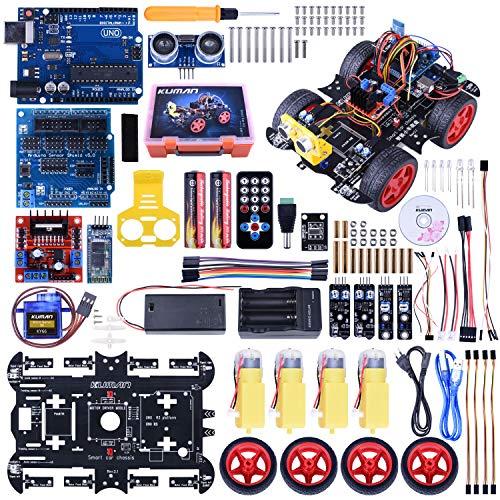 Kuman Bluetooth RC Smart Roboter Auto Set, UNO R3 Robotic SM11