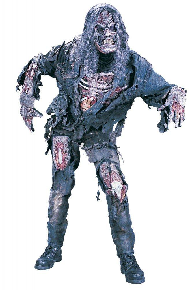 Zombie Deluxe 3D Kostüm für Herren und Teenager Halloween Horror The Walking Dead, Größe:S/M