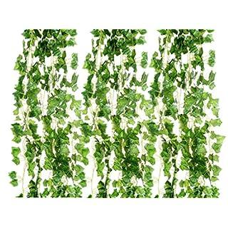 72 Fuß-12 großen Wert künstliche Fake hängenden Pflanze Blätter Girlande Haus Garten Wand Dekoration englischer Efeu Seide grün Hochzeit Girlanden
