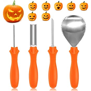 yifone professional pumpkin carving kit 4 pieces heavy duty