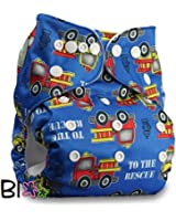 """LittleBloom, Reusable Pocket Cloth Nappy, Fastener: Popper, Set of 1, Pattern 8, Without Insert, (see """"Special Offers and Product Promotions"""" for Special Offers Detail)"""