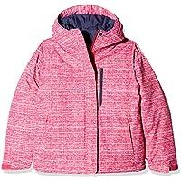 Columbia Alpine Free Fall Chaqueta de Esquí, Niñas, Rosa (Cactus Pink, Texture Print), M