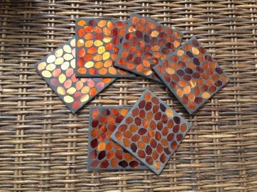 Coasters - Mosaic Coasters, Set of 6 - Bronze (GM59)
