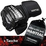 MMA Handschuhe Profi – professionelle Qualität – hochwertige Konstruktion – Boxen, Training, Sandsack, Boxsack, Freefight, Grapling, Kampfsport – Schwarz – Boxhandschuhe - 5