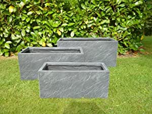 The Garden Feature Company Trough Planters (Set of 3)