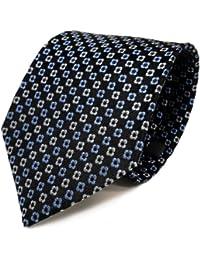 Mexx Seidenkrawatte blau dunkelblau silber gemustert - Krawatte Seide