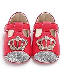 Zapatos de niños, Calzados/Zapatillas/Sandalias de niños Baby Girl Newborn Summer Soft Sole Sandals Cute Crown Decor Zapatos Antideslizantes